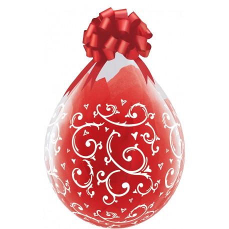 Ballon Cadeau Coeurs et Arabesques
