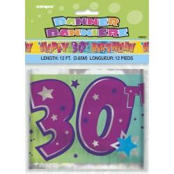Bannière d'anniversaire 30 ans