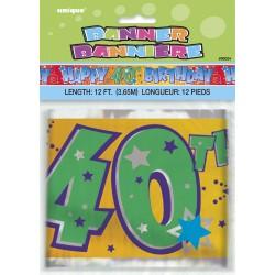 Bannière d'anniversaire 40 ans