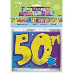 Bannière d'anniversaire 50 ans