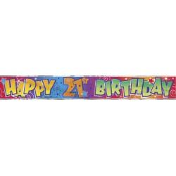 Bannière d'anniversaire 21 ans