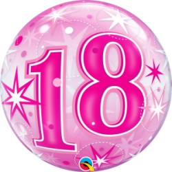 Bubble Age 18 pink starburst