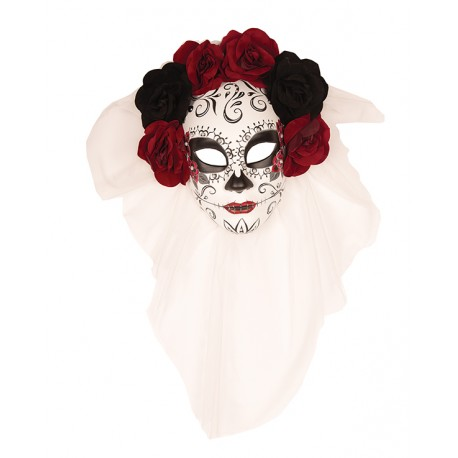Masque de mort flowers red