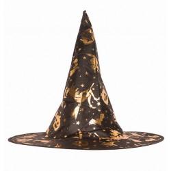 Chapeau sorcière déco dorée
