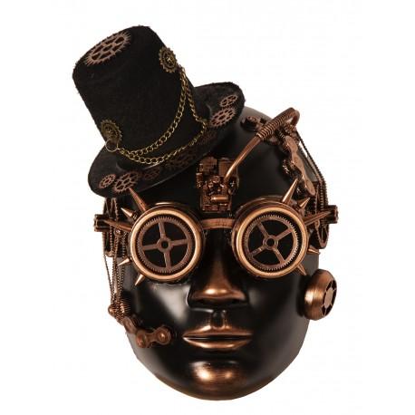 Masque bronze steampunk