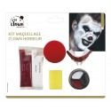 Kit maquillage clown horreur