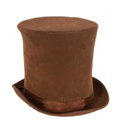 Chapeau haut de forme brun