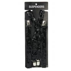 Bretelles noires brillantes.