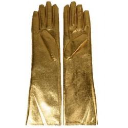 Gants long dorés