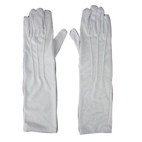 Gants long blancs