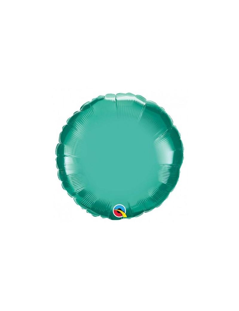 Rond aluminium Chromé green