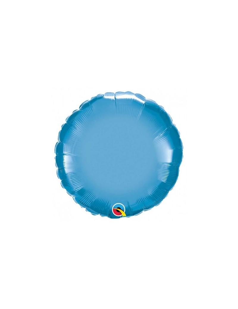 Rond aluminium Chromé blue