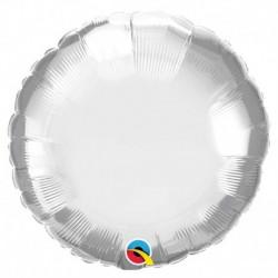 Rond aluminium Chromé silver