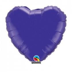 Coeur aluminium Quartz Purple
