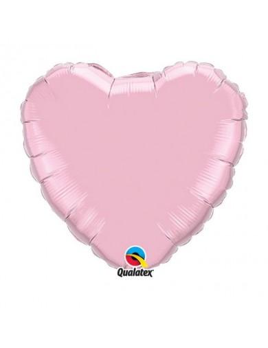 Coeur aluminium pearl Pink