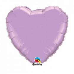 Coeur aluminium pearl Lavande