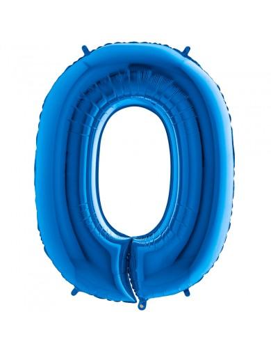 """Chiffre """"0"""" 66 cm bleu"""