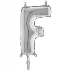"""Lettre """"F"""" 35 cm silver"""