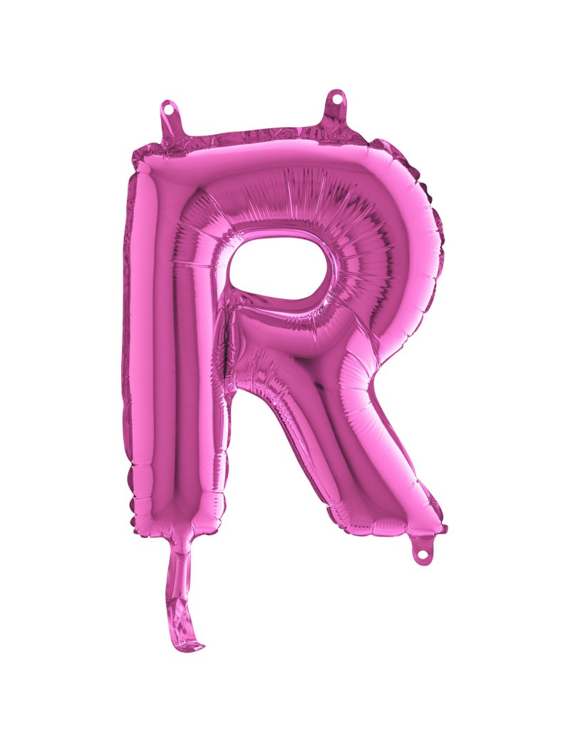 """Lettre """"R"""" 35 cm magenta"""