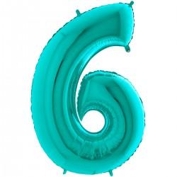 """Chiffre """"6"""" 66 cm tiffany"""