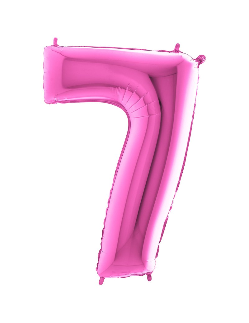 "Chiffre ""7"" 66 cm magenta"