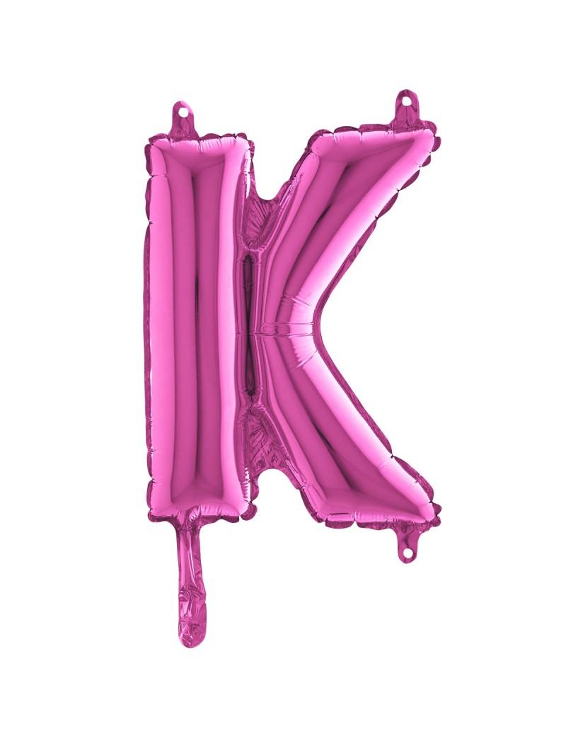 "Lettre ""K"" 35 cm magenta"