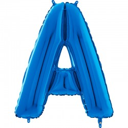 """Lettre """"A"""" 66 cm Bleu"""