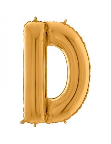"""Lettre """"D"""" 66 cm Gold"""