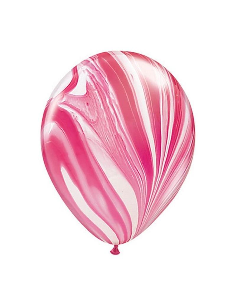 Ballon Red & White super Agate