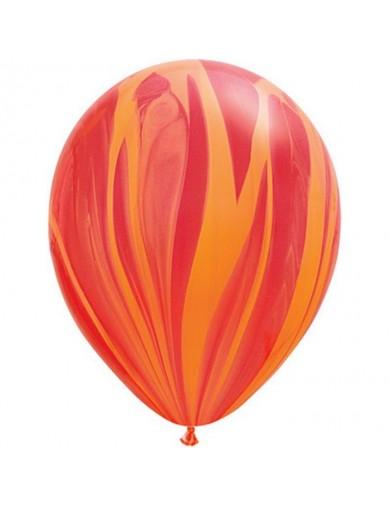Ballon Red Orange Rainbow super Agate