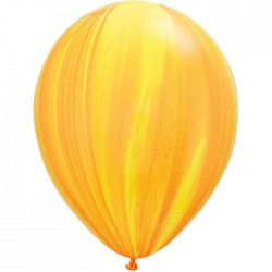 Ballon Yellow Orange Rainbow super Agate