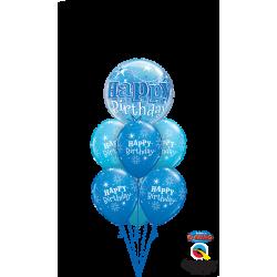 Happy Birthday Bleu Etoiles Bunch