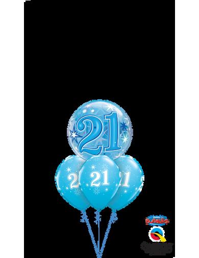 """21"" Bleu Etoiles Bunch"