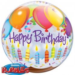 Happy Birthday Bougies et Ballons