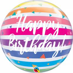 Happy Birthday Rayures Arc en Ciel