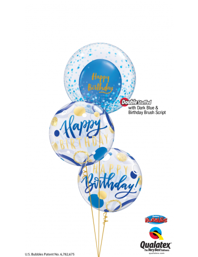 Happy Birthday Bleu et Or bunch