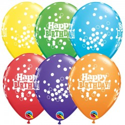 Happy Birthday Confetti Dots