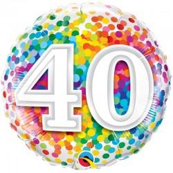 Age 40 Ans Confetti