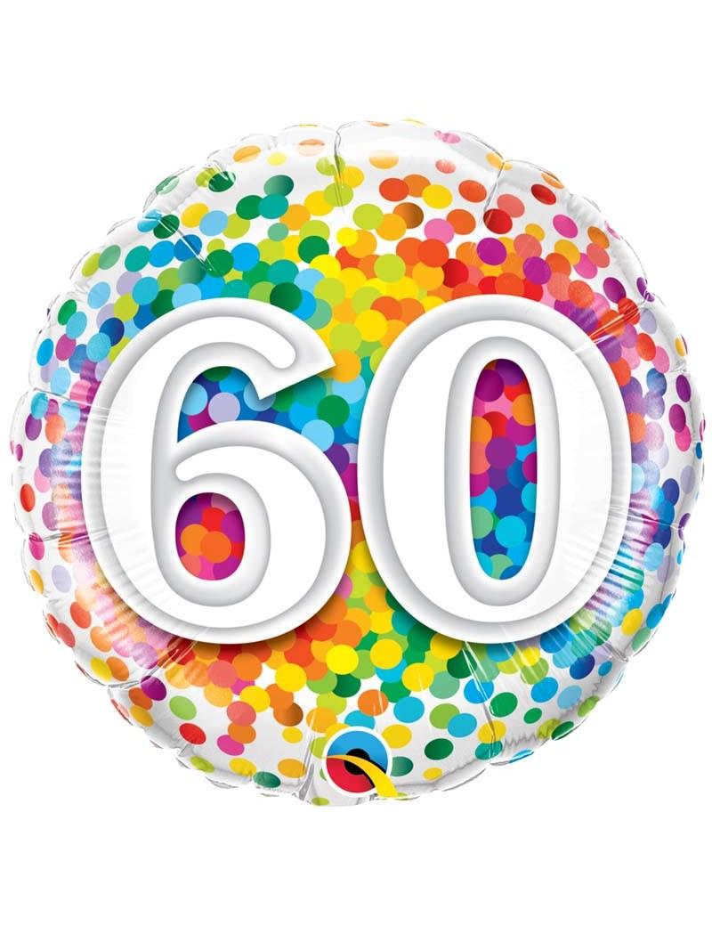 Age 60 Ans Confetti