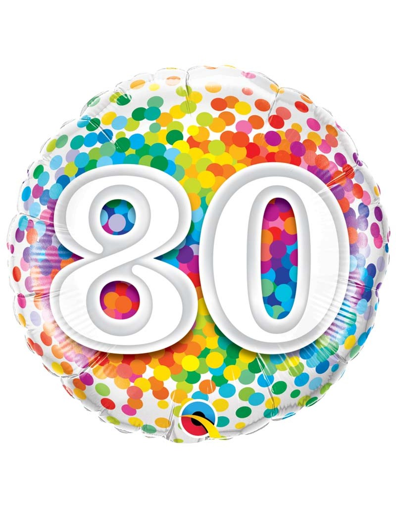 Age 80 Ans Confetti
