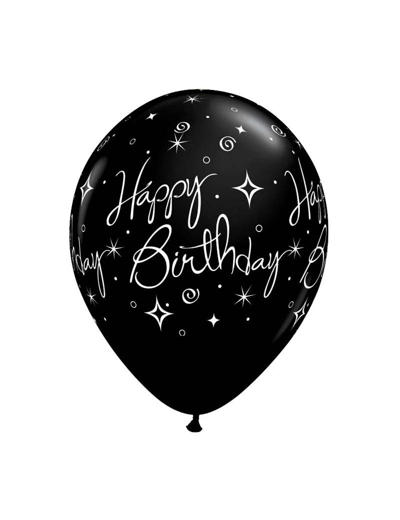 Happy Birthday Black Elegant Sparkles