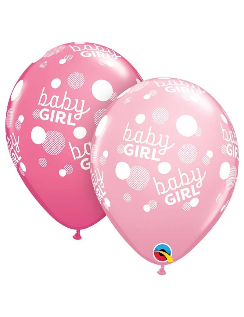 Baby fille Dots around