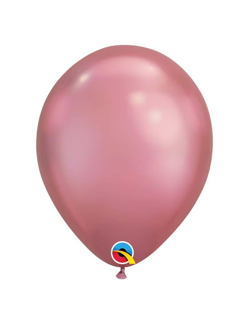 Ballon chrome Mauve