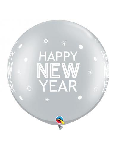 Happy New Year argenté