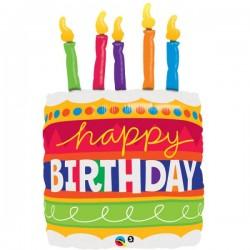 Happy Birthday Cake Bougies