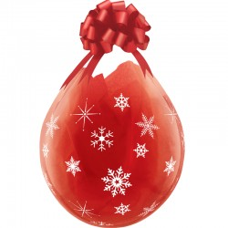 Ballon Cadeau flocons de neige