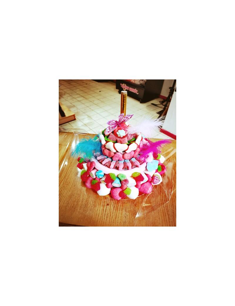 Gâteau de Bonbons multi couleurs