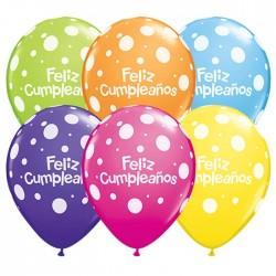 Feliz Cumpleaños Polka Dots