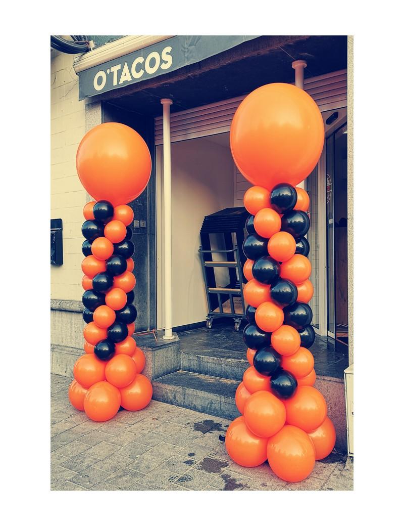 Colonne orange et noir