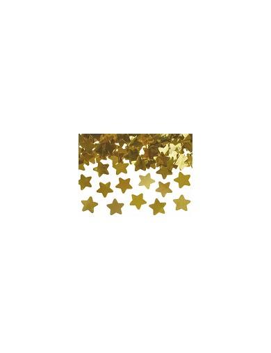 Canon à confettis étoiles dorées 60 cm